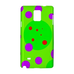 Green and purple dots Samsung Galaxy Note 4 Hardshell Case