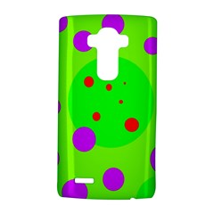 Green and purple dots LG G4 Hardshell Case