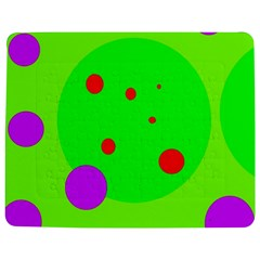Green and purple dots Jigsaw Puzzle Photo Stand (Rectangular)
