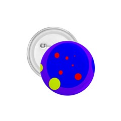 Purple and yellow dots 1.75  Buttons