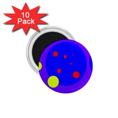 Purple and yellow dots 1.75  Magnets (10 pack)