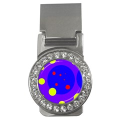 Purple and yellow dots Money Clips (CZ)