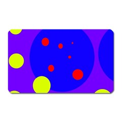 Purple and yellow dots Magnet (Rectangular)