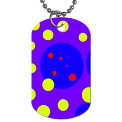 Purple and yellow dots Dog Tag (One Side)