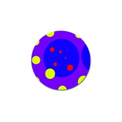 Purple and yellow dots Golf Ball Marker (10 pack)