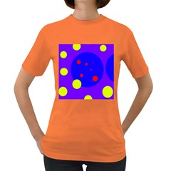 Purple and yellow dots Women s Dark T-Shirt