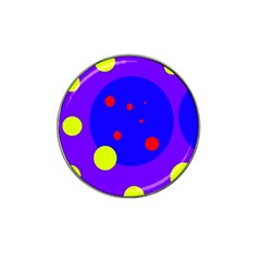Purple and yellow dots Hat Clip Ball Marker (4 pack)