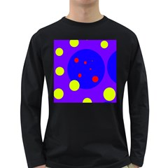 Purple and yellow dots Long Sleeve Dark T-Shirts
