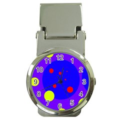 Purple and yellow dots Money Clip Watches