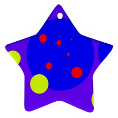 Purple and yellow dots Star Ornament (Two Sides)