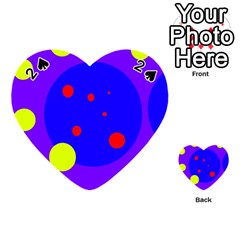 Purple and yellow dots Playing Cards 54 (Heart)