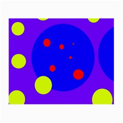 Purple and yellow dots Small Glasses Cloth (2-Side)
