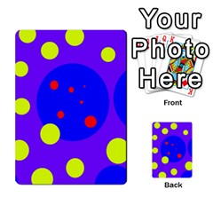 Purple and yellow dots Multi-purpose Cards (Rectangle)