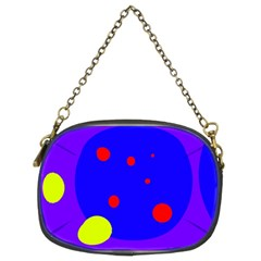 Purple and yellow dots Chain Purses (Two Sides)