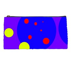 Purple and yellow dots Pencil Cases