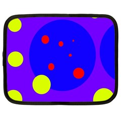 Purple and yellow dots Netbook Case (XL)