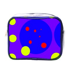 Purple and yellow dots Mini Toiletries Bags