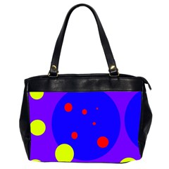 Purple and yellow dots Office Handbags (2 Sides)
