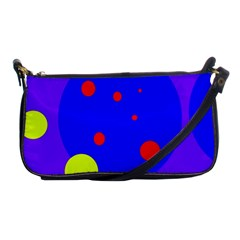 Purple and yellow dots Shoulder Clutch Bags
