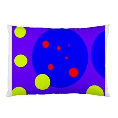 Purple and yellow dots Pillow Case (Two Sides)