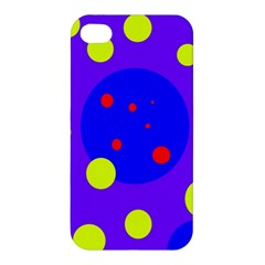 Purple and yellow dots Apple iPhone 4/4S Hardshell Case