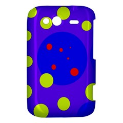 Purple and yellow dots HTC Wildfire S A510e Hardshell Case