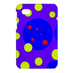 Purple and yellow dots Samsung Galaxy Tab 7  P1000 Hardshell Case