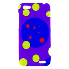 Purple and yellow dots HTC One V Hardshell Case