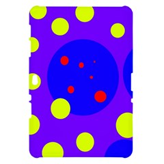 Purple and yellow dots Samsung Galaxy Tab 10.1  P7500 Hardshell Case