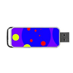 Purple and yellow dots Portable USB Flash (One Side)
