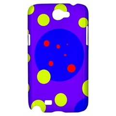Purple and yellow dots Samsung Galaxy Note 2 Hardshell Case