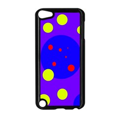 Purple and yellow dots Apple iPod Touch 5 Case (Black)