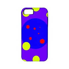 Purple and yellow dots Apple iPhone 5 Classic Hardshell Case (PC+Silicone)