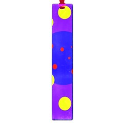 Purple and yellow dots Large Book Marks