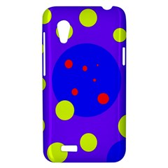 Purple and yellow dots HTC Desire VT (T328T) Hardshell Case