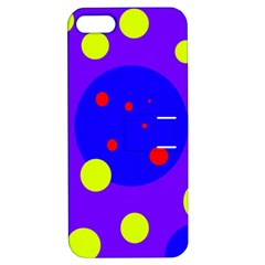 Purple and yellow dots Apple iPhone 5 Hardshell Case with Stand