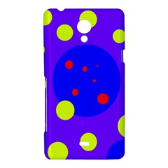 Purple and yellow dots Sony Xperia T
