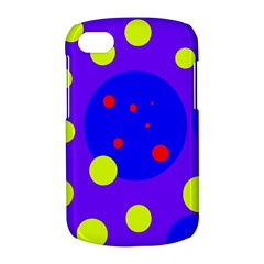 Purple and yellow dots BlackBerry Q10