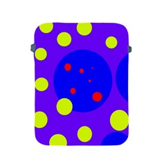 Purple and yellow dots Apple iPad 2/3/4 Protective Soft Cases