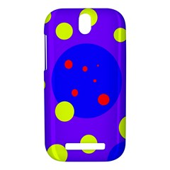 Purple and yellow dots HTC One SV Hardshell Case