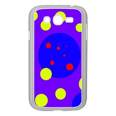 Purple and yellow dots Samsung Galaxy Grand DUOS I9082 Case (White)