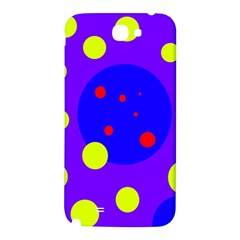 Purple and yellow dots Samsung Note 2 N7100 Hardshell Back Case