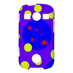 Purple and yellow dots Samsung Galaxy S7710 Xcover 2 Hardshell Case