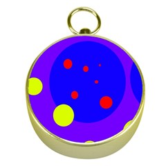 Purple and yellow dots Gold Compasses