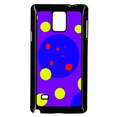 Purple and yellow dots Samsung Galaxy Note 4 Case (Black)