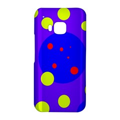 Purple and yellow dots HTC One M9 Hardshell Case