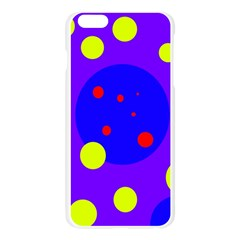 Purple and yellow dots Apple Seamless iPhone 6 Plus/6S Plus Case (Transparent)