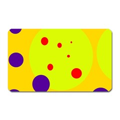 Yellow and purple dots Magnet (Rectangular)
