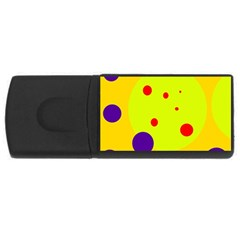 Yellow and purple dots USB Flash Drive Rectangular (2 GB)