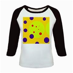 Yellow and purple dots Kids Baseball Jerseys